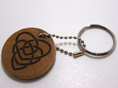Irish/Celtic Motherhood Knot wooden key chain  by TrinityCrossing, $10.00