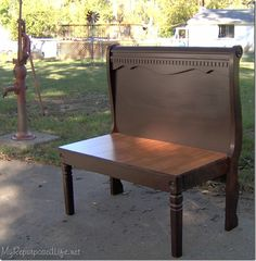 Image result for build a bench out of a sleigh bed