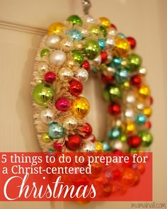 5 things to do to prepare for a Christ-centered Christmas #christmas #christ