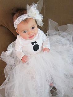 DIY: Baby Ghost Halloween Costume Tutorial for Baby Violet