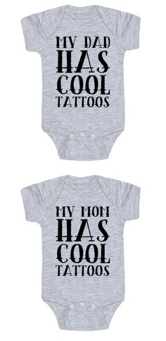 This baby one piece is perfect show off that you have a great baby and you have cool tattoos. Let everyone know that you can have tattoos and piercings and can still be an awesome parent. Free domestic U.S. shipping on all orders of $50 or more.