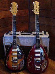 2 x Vox 12-String Teardrops - Instant 60's!