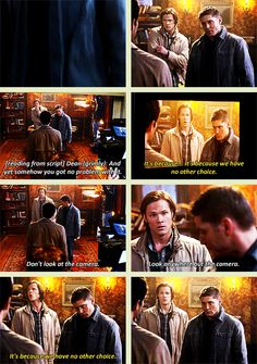 Day 12: Your favourite funny scene: almost all of the season 6 episode the French Mistake. It was all so good, but this scene in particular was hilarious. Loved watching the boys being themselves, acting as Sam and Dean. They were just awful. Too funny!
