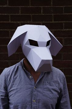 Build your own 3D Beagle dog mask by Wintercroft on Etsy