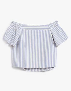 echo striped off-the-shoulder top