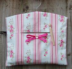 Floral and stripe clothes peg bag, £10.00.