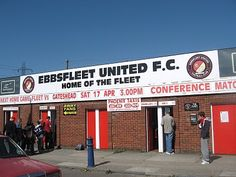Ebbsfleet United - still has a standing-only area for fans