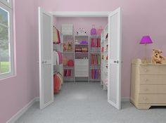Guest Bedroom Closet  Http://www.closetmaid.com/homedepot/en US/HomeDepotFiles/mpd Shoppinglist/reach In/LRIS_3WH.pdf  | Master Bedroom | Pinterest | Bedroom ...