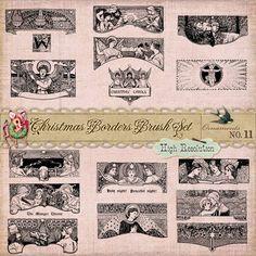 Christmas Ornament Brushes & Vectors No. 11 freebie - StarSunflower Studio