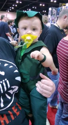 A wee Green Arrow | MegaCon 2013 #pacifier #beard