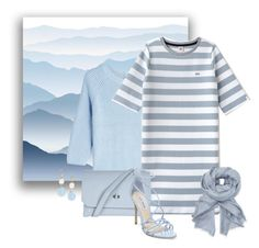 """""""Powder Blue"""" by magnolialily-prints ❤ liked on Polyvore featuring York Wallcoverings, HUGO, Lacoste L!VE, John Lewis, Topshop, Steve Madden and Saks Fifth Avenue"""