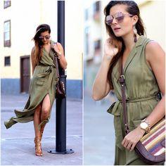 Lok of the day: Sheinside Dress, Choies Heels, Guess Sunglasses #marilynscloset #fashionblogger #streetstyle #style #tenerife #lalaguna #spain #blogger #khaki #dress #shein #mama #breastfeeding #natura #guess #style http://marilynsclosetblog.blogspot.com.es/2015/08/khaki-dress.html