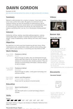 freelance writer resume example - Freelance Writer Resume Sample