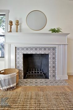 tiles Vintage Both decorative and functional, cozy and statement-making, a tiled fireplace is the heart of any home. Fireplace Modern Design, House Design, Home, Home Fireplace, Living Room With Fireplace, Fireplace Design, Fireplace Mantels, Fireplace