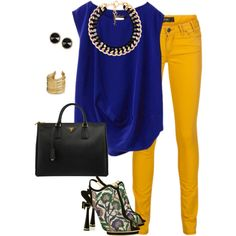 Royal Blue and yellow