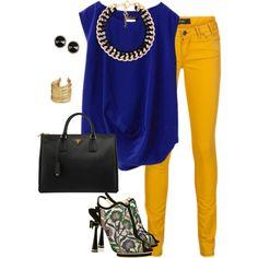 Royal Blue and yellow