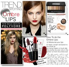 """""""The Ombre Lips"""" by nikolina-pinto ❤ liked on Polyvore"""