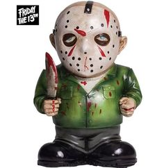 Jason Lawn Gnome - The all time great villain Jason Voorhees has scared people for years and now you can have him around in gnome size. #Halloween #decor #jason