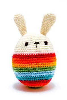 Crochet Rainbow Bunny Egg