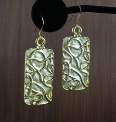 Gold Squiggle earrings by KLFStudio on Etsy