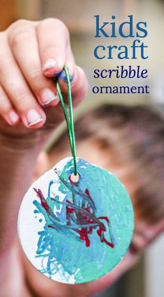I try to make a kids ornament craft with my children every year. With a toddler and preschooler, it can be a challenge getting them to cooperate. But this year was a HUGE success!