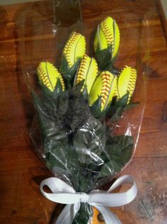 Softball Flowers 6 Custom Made from Quality Leather Softbal tulip rose gift idea on Wanelo