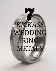 From out-of-this-world meteorite to sword-forged stainless steel, we're digging these seven alternative metals for engagement and wedding bands. Wedding Stuff, Wedding Bands, Dream Wedding, Wedding Ideas, Alternative Wedding Rings, Alternative Metal, Night Beach Weddings, Gold Bands, Metals
