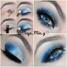 .@maya_mia_y | Pictorial Silver and Blue for Prom -Requested Look I used the 25... | Webstagram - the best Instagram viewer