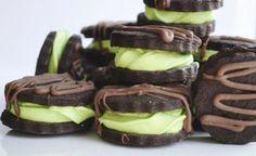 Kakaové kolieska s pepermintovou náplňou