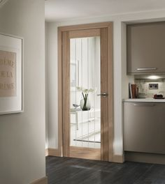 Save on installation time with our pre-finished Genoa Oak glazed door. Oak Glazed Internal Doors, Internal Doors Modern, Internal Wooden Doors, Modern Door, Wooden Patio Doors, French Doors Patio, Sliding Patio Doors, Front Doors, Entrance Doors