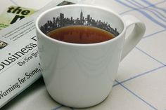 Skyline cup: breakfast in New York every morning