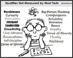 What standardized tests don't assess