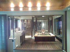 white cedar tub installed