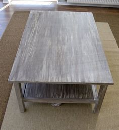 """Pudel-design: My own painted DIY """"driftwood"""" table N°2!"""
