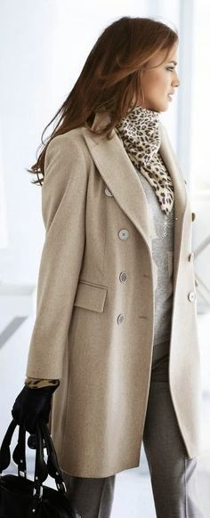Classy in grey, beige and leopard.