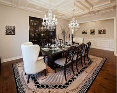 Dining Room Interior Design Ideas-Ceiling and chandeliers