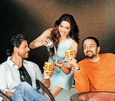 Deepika Padukone, Shahrukh Khan, and Rohit Shetty