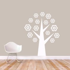Sweetums Flower Tree Wall Decal