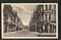 AK Coburg, Tabakwaren-Geschäft A. Kagelmann, Mohren-Cafe in der Mohrenstrasse in…