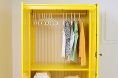 painted yellow closet