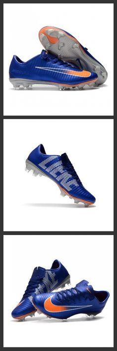 Scarpe Calcio Nike Mercurial Vapor 11 FG CR7 Blu Arancione Argento. la nuova generazione delle scarpe da calcio nike mercurial vapor xi fg sono studiate per offrire una velocità invincibile su campi compatti.