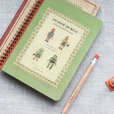 Retro Spring Notebook v.2