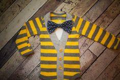 Oh my god! I am dying with love! Soooo precious!Preppy Baby Boy Cardigan Onesie and Bow Tie by RockingHorseLane, $32.50