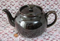 Copy of Sadler Brown Betty Teapot Vintage Large6 Cups Dark Brown 1960s