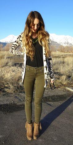 Zebra Cardigan. I think I need one now...