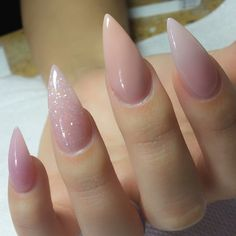 Shaping,foundation and application are always #1 look at the cuticle zone   nuns_nails   #nudenails #stilettonails