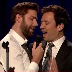 Watch Jimmy Fallon Have a Lip Sync-Off with John Krasinski... @Tiffany Wheat
