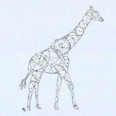 Geometric Giraffe by liensartwork.deviantart.com on @DeviantArt