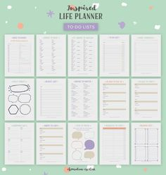 To-do lists in the Inspired Life Planner kit