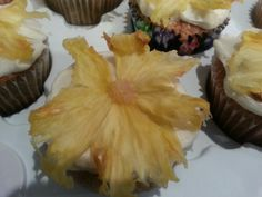 Hummingbird cupcakes. Yummy and beautiful. And with two fruits, practically a health food, right! @Martha Stewart recipe.